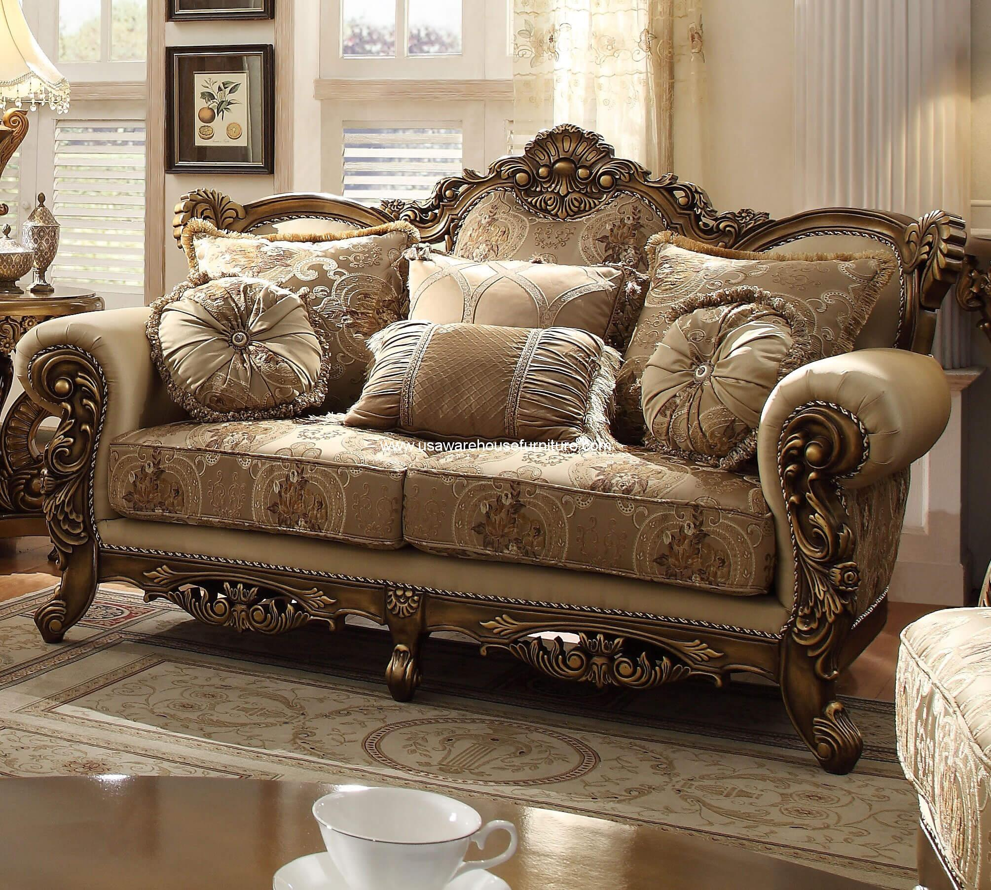 Homey Design Hd 506 Vienna Loveseat Usa Warehouse Furniture