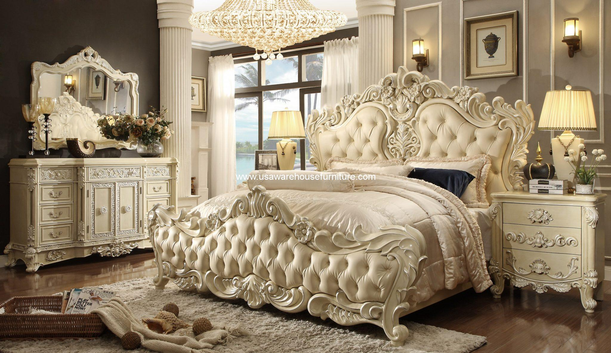 Homey Design HD-5800 5Pc Imperial Palace Bedroom Set - USA Warehouse