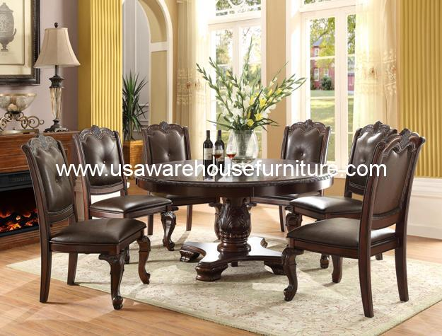 piece kiera round dining set by crown mark usa warehouse furniture