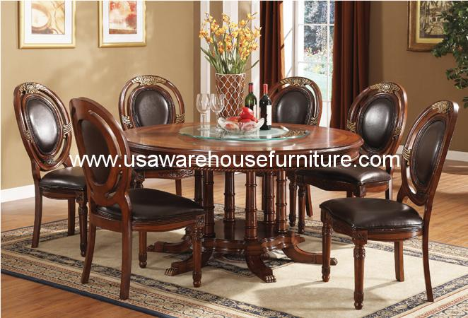 Kingston Formal Round 7 Piece Dining Set - USA Warehouse