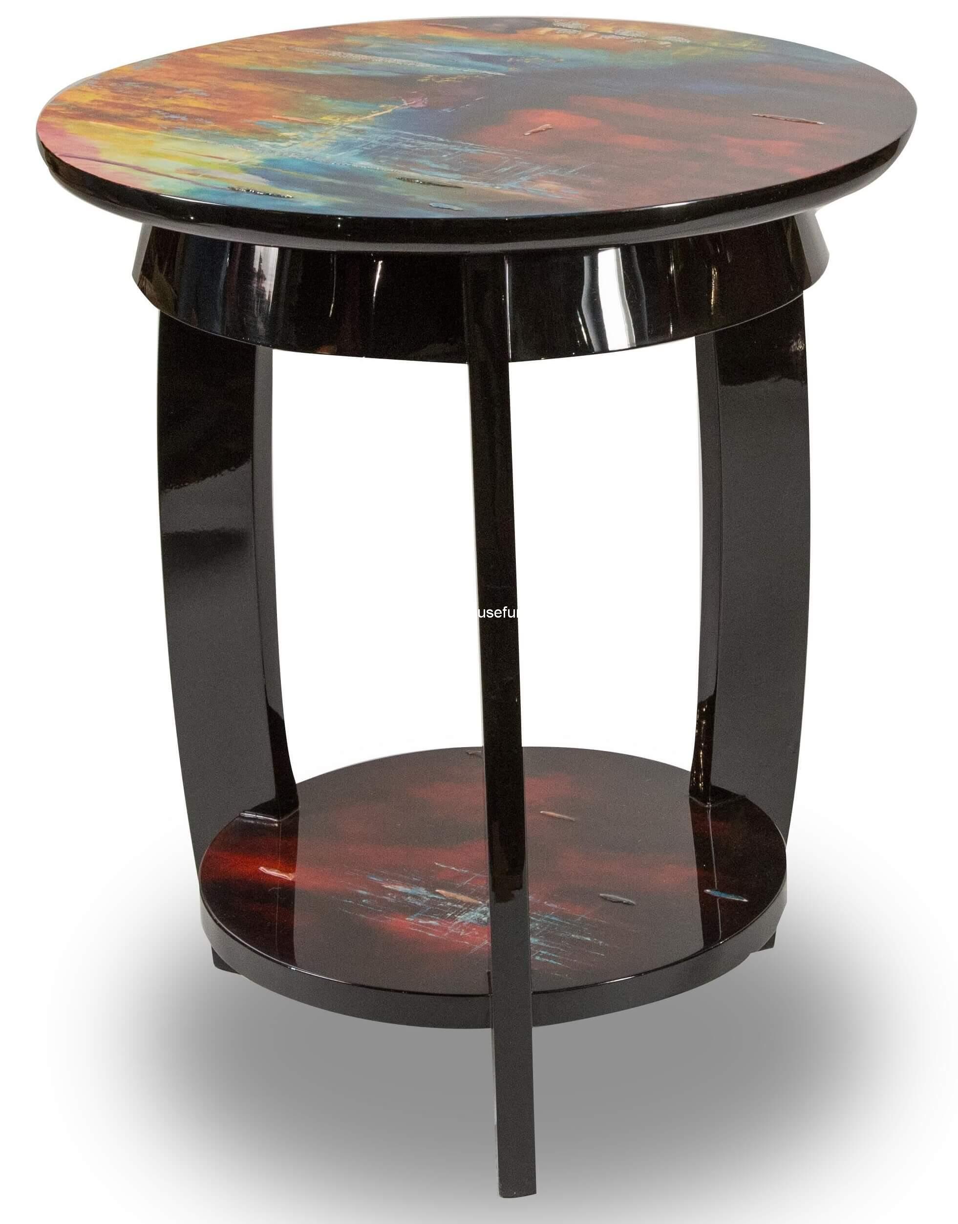 Michael Amini Illusion Accent Round Side Table Fs Ilusn