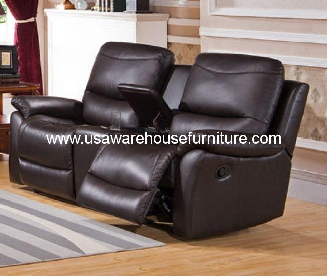 top grain black leather reclining loveseat usa warehouse furniture