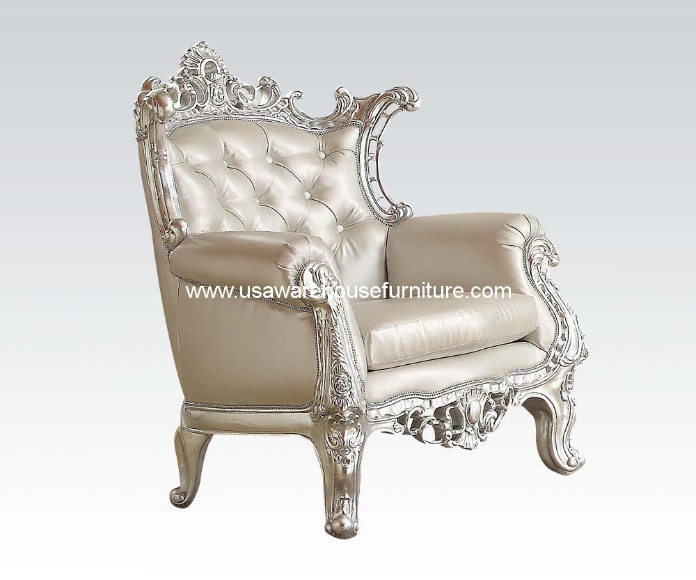 Accent Chair Silver Frame Usa Warehouse Furniture