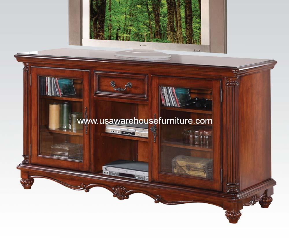 Acme traditional tv stand usa warehouse furniture for L furniture warehouse