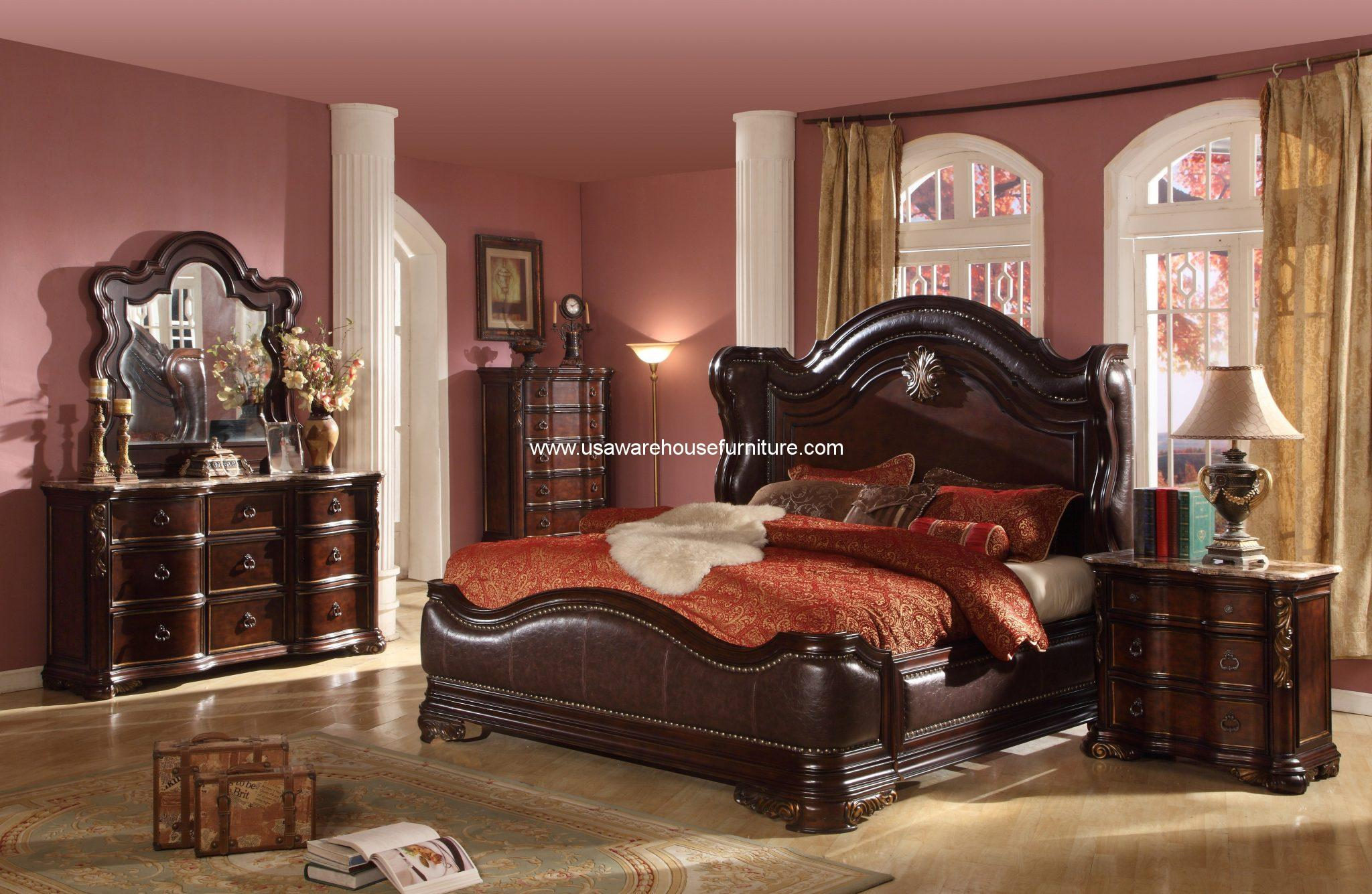 Mcferran Furnishing Imperial Bedroom Set USA Warehouse Furniture