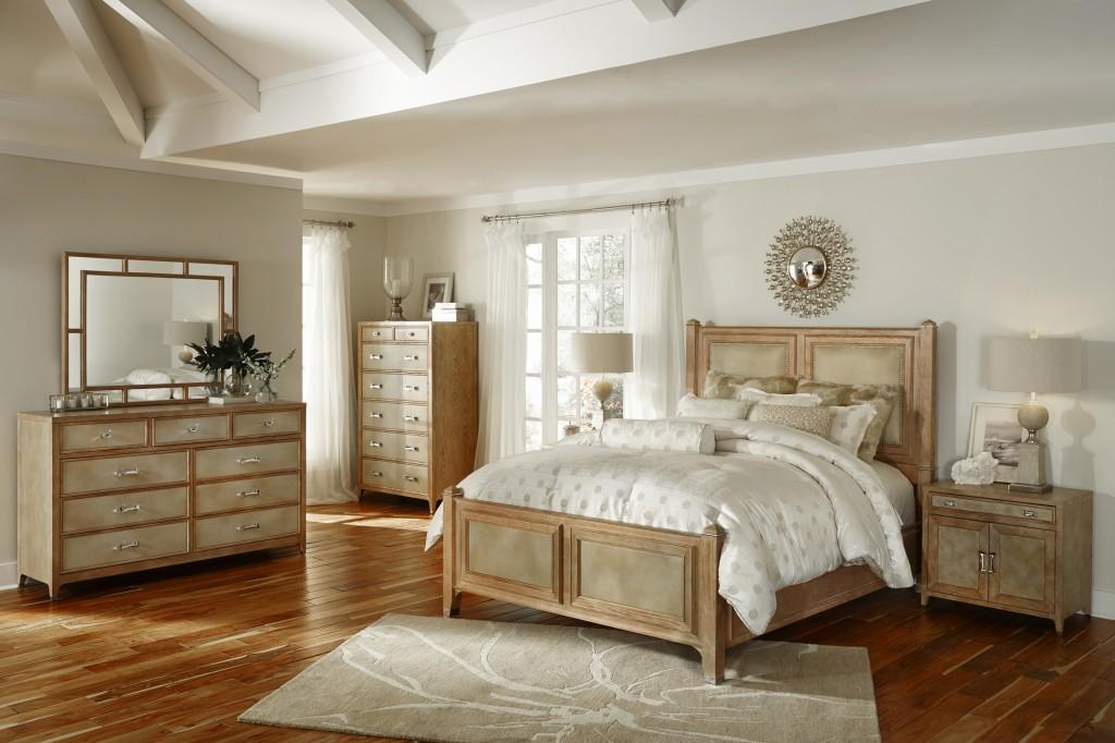 Biscayne West Sand Panel Bedroom Set