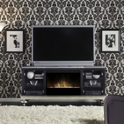 Hollywood Swank Black Iguana Media Console
