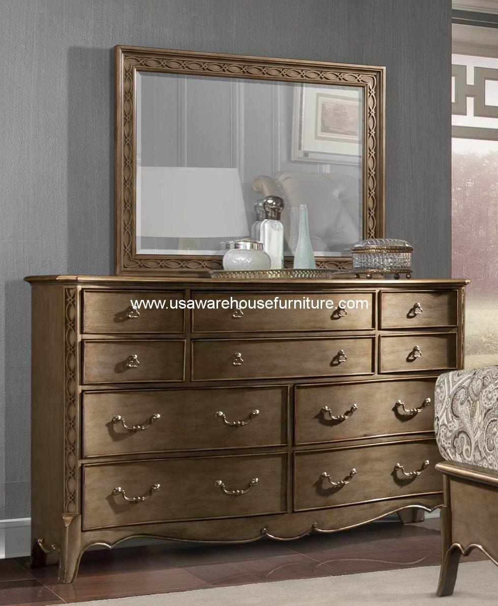 Clayton Antique Gold Dresser Mirror 1818 5 By Homelegance