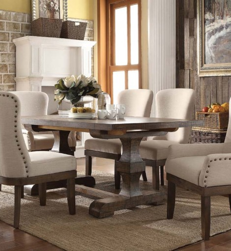 acme landon 9 piece rustic dining set - Rustic Dining Set