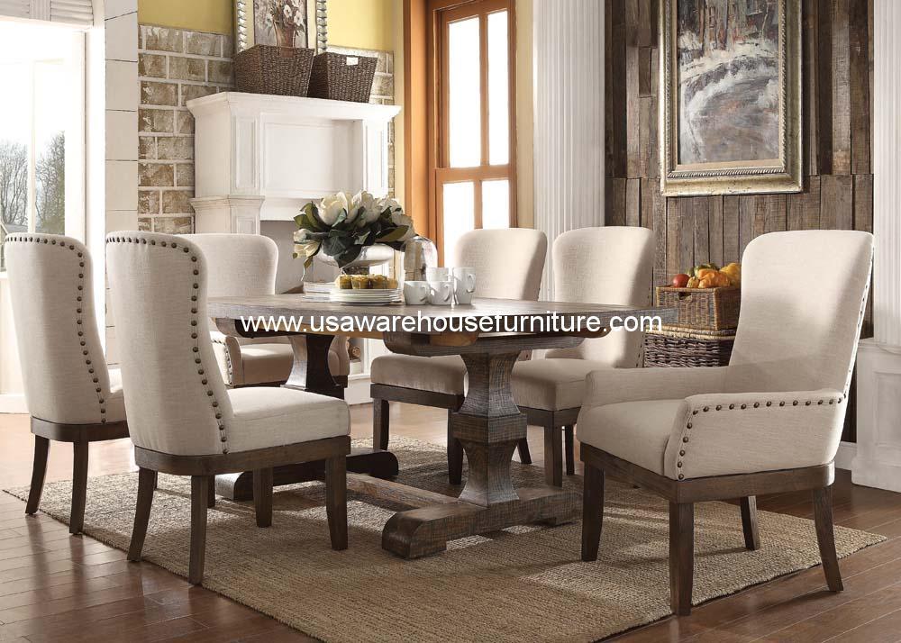 Acme Landon 9 Piece Rustic dining set. Acme Landon 9 Piece Rustic dining set   USA Warehouse Furniture