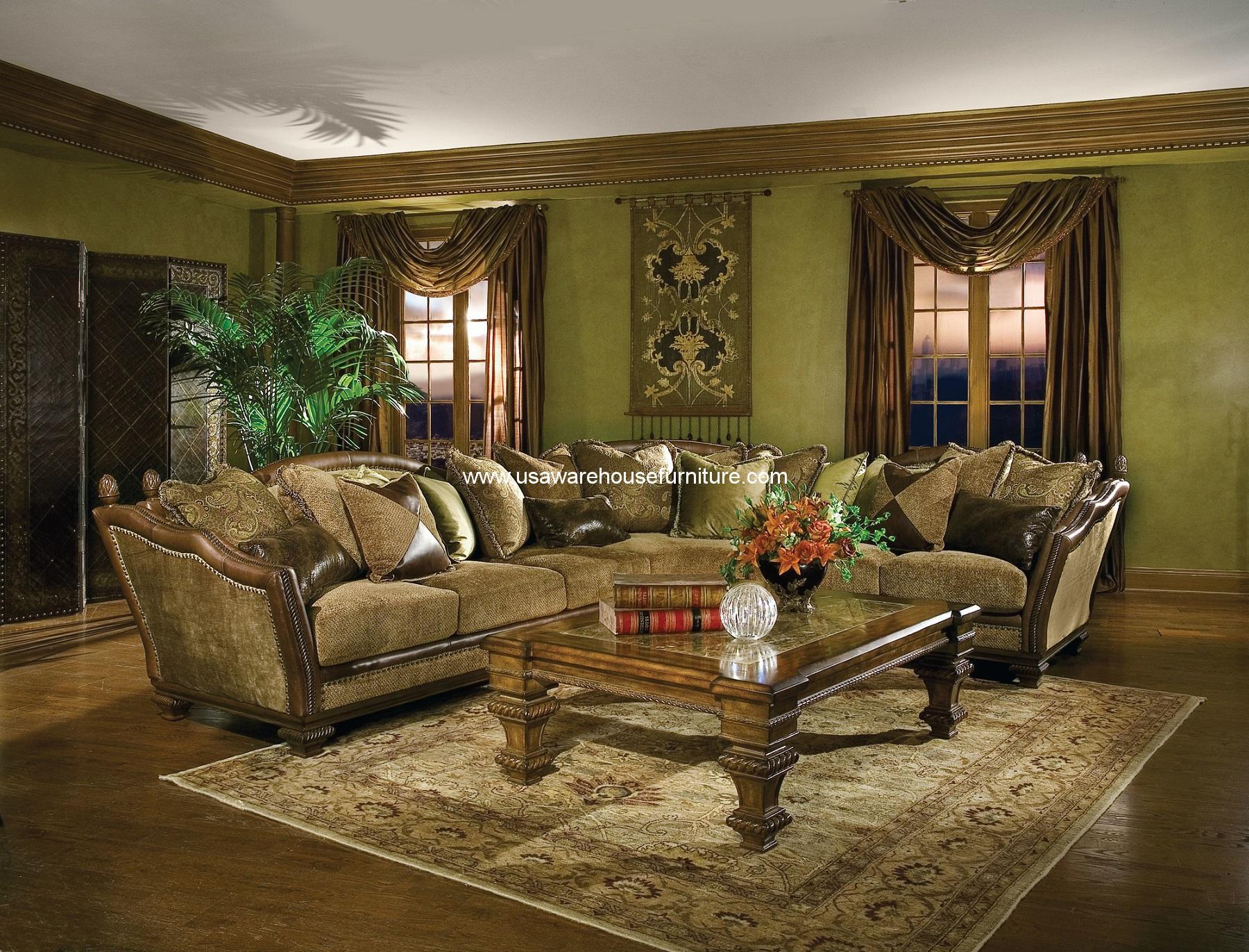 Italia Cordicella Sectional Sofa Set