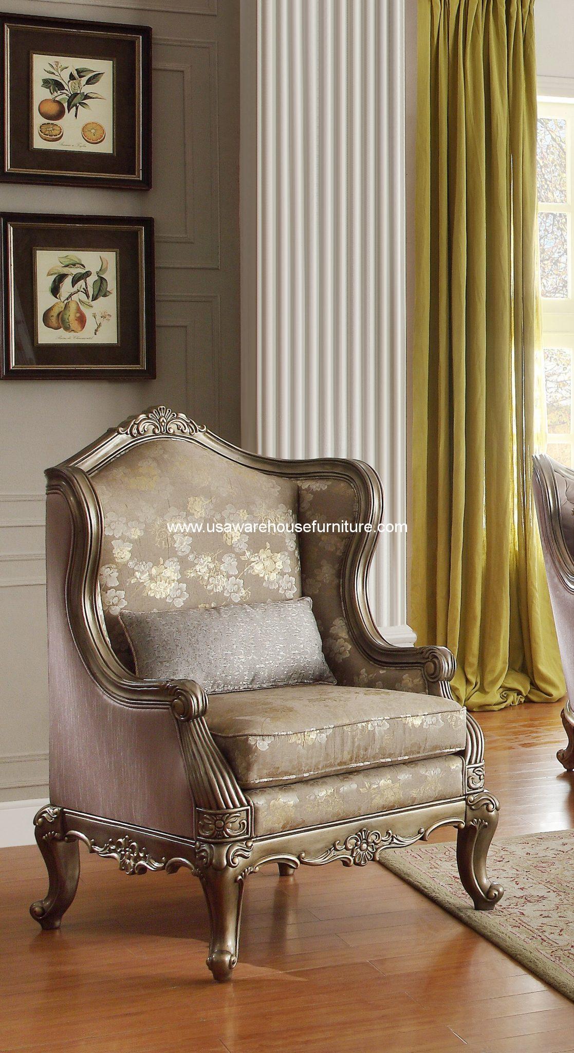 Homelegance Fiorella Wood Trim Accent Chair Usa