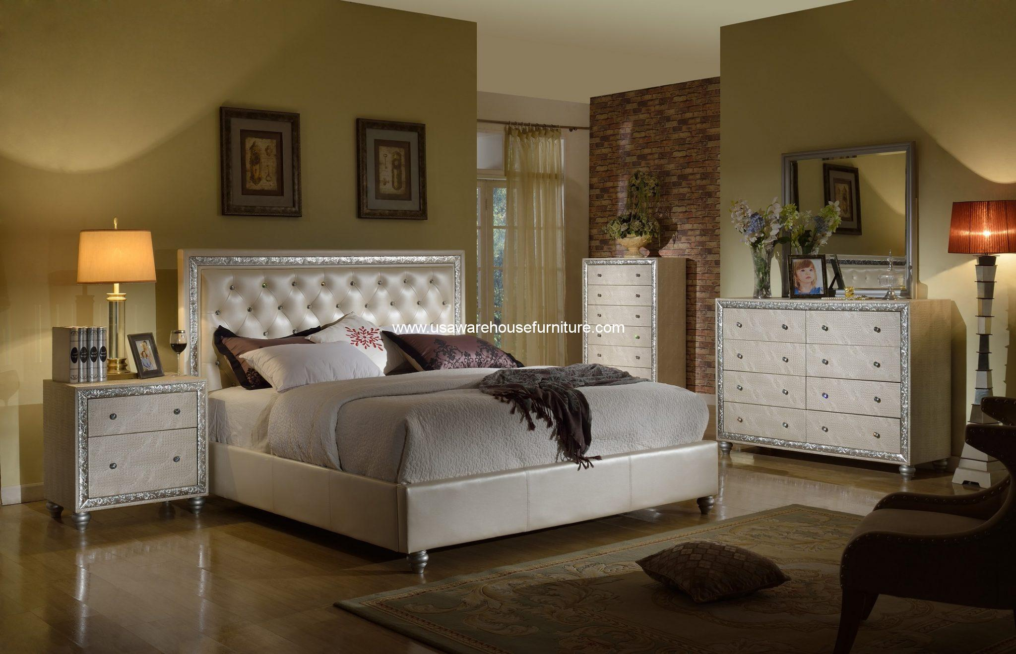 Mcferran Furnishing B Manhattan Pc Bedroom Set USA - Manhattan bedroom furniture