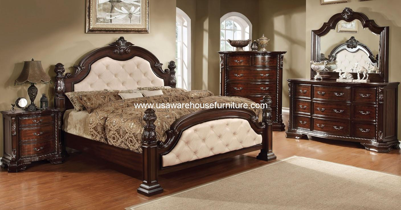 Furniture of america 4 piece monte vista i bedroom set in for Furniture of america furniture