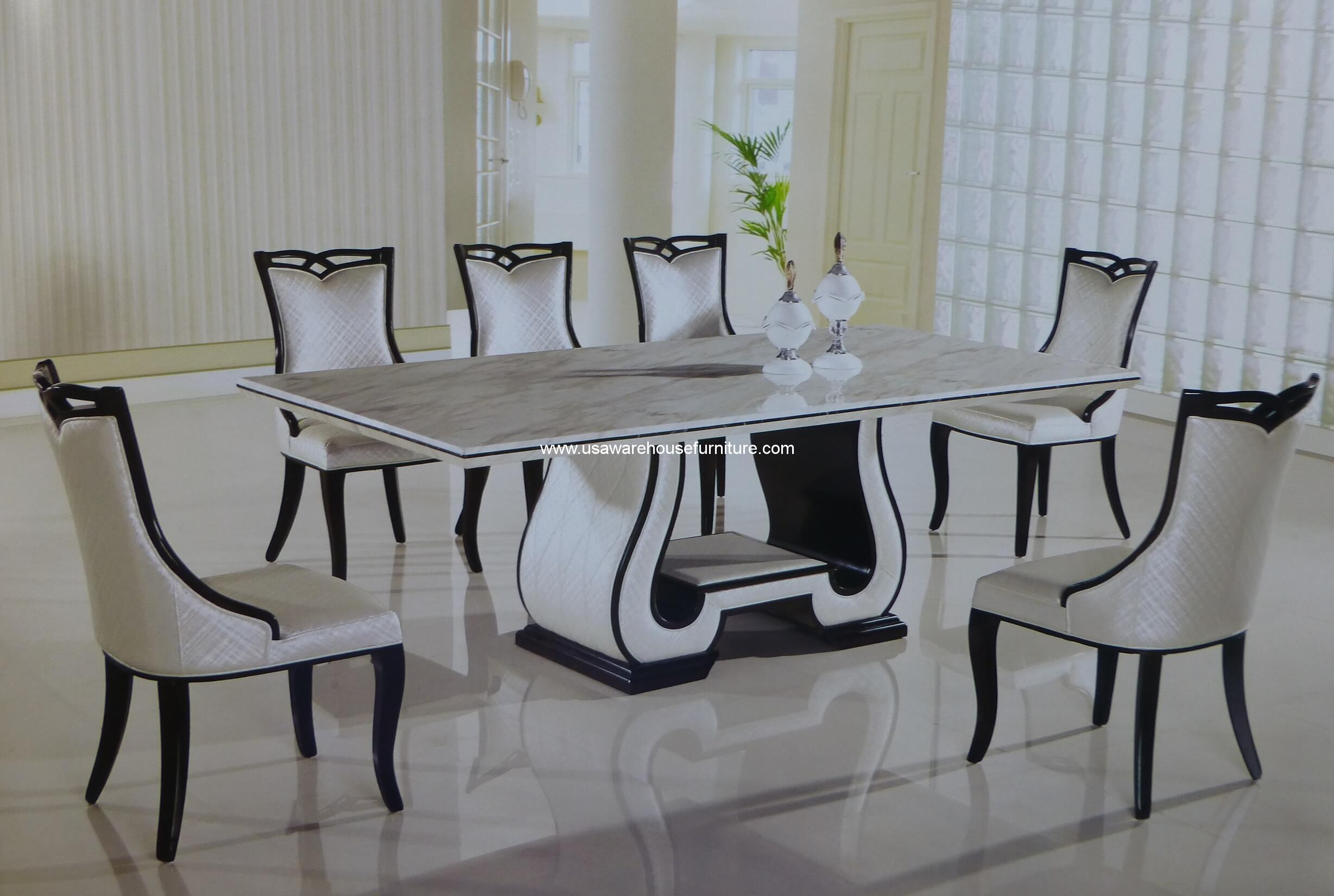 table marble decoration dining tables top white furniture home desk faux set room