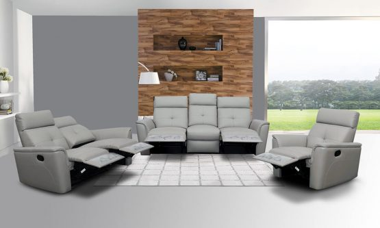 ESF 85010 light grey recliner set
