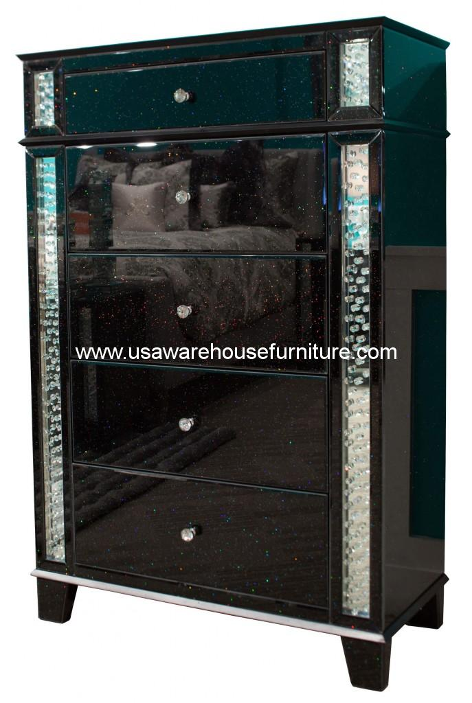 Monteal Accent Storage Chest Crystal Inserted