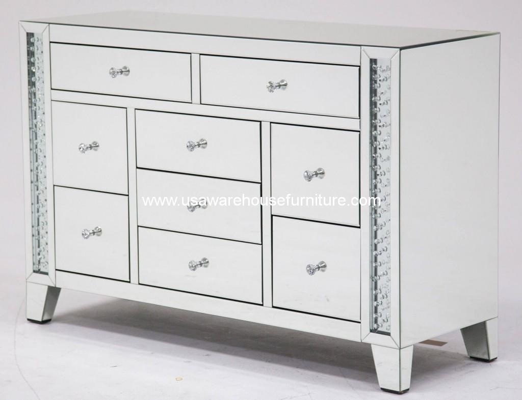 Monteal Accent Storage Dresser Crystal Inserted
