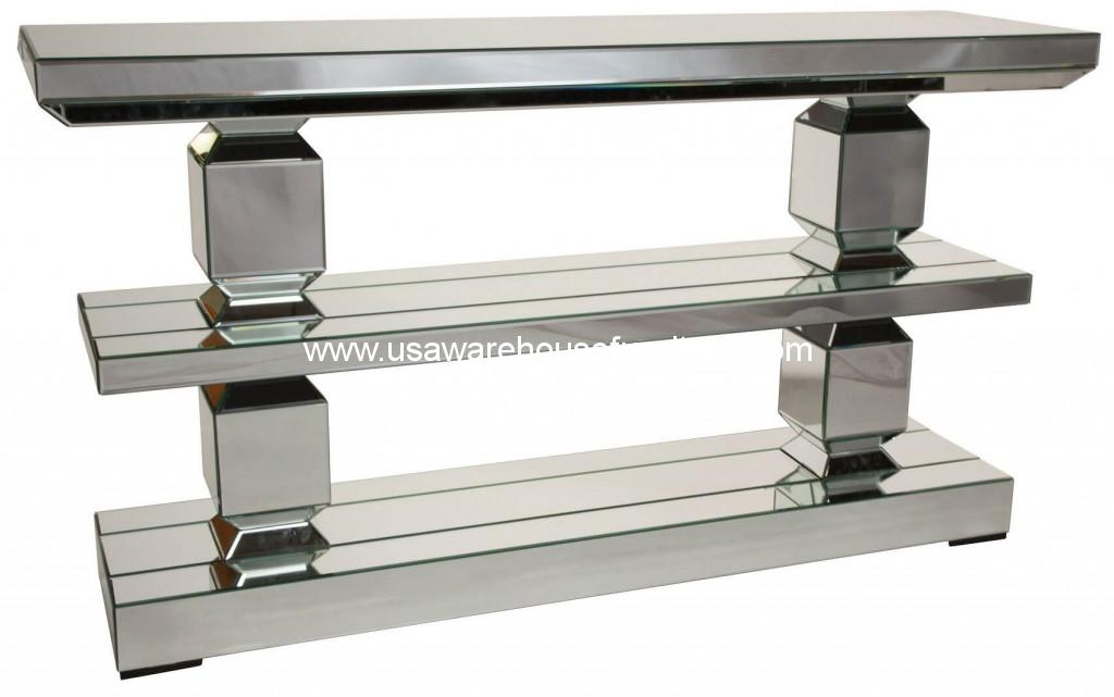 Montreal Mirrored 3 Tier Console Table