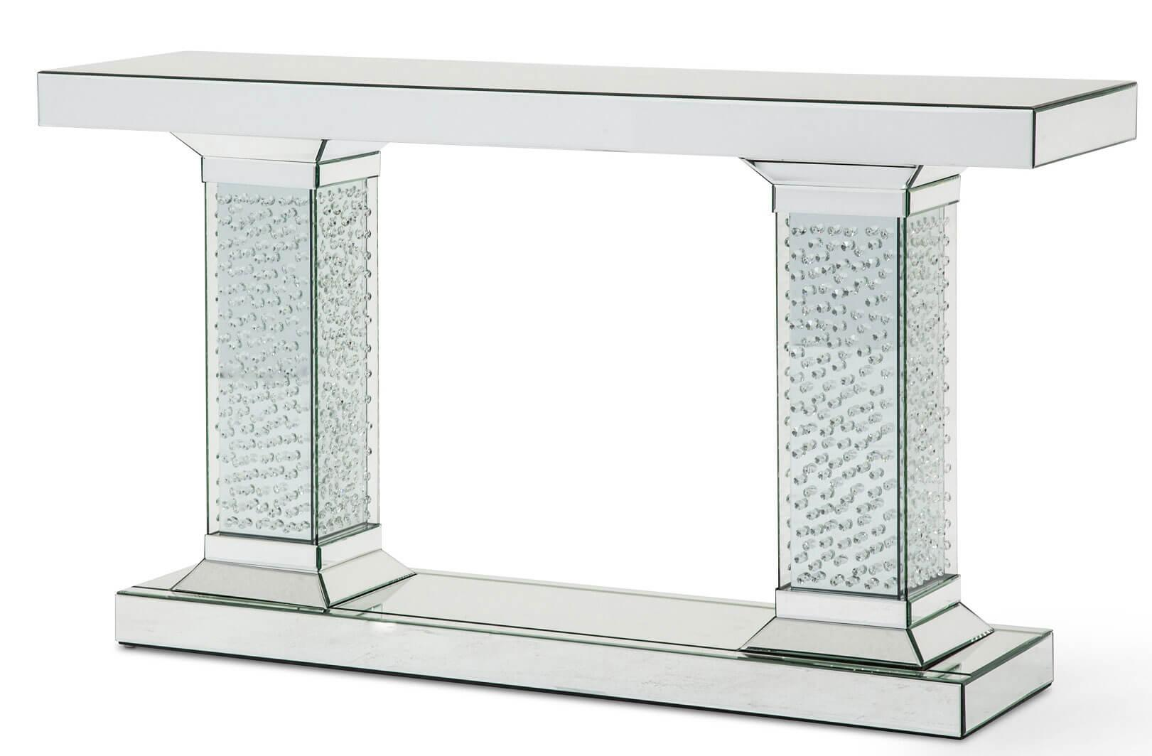 mirror console table. Montreal Mirrored Console Table Crystal Accents Mirror
