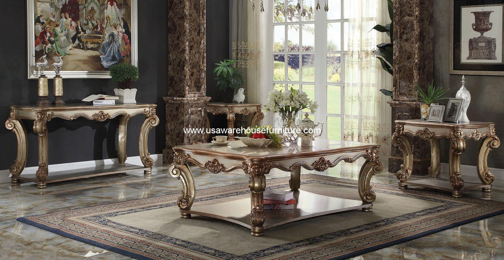 Image Result For Vendome Gold Patina Coffee Table On