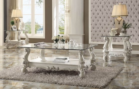 acme Versailles Occasional Table Bone White