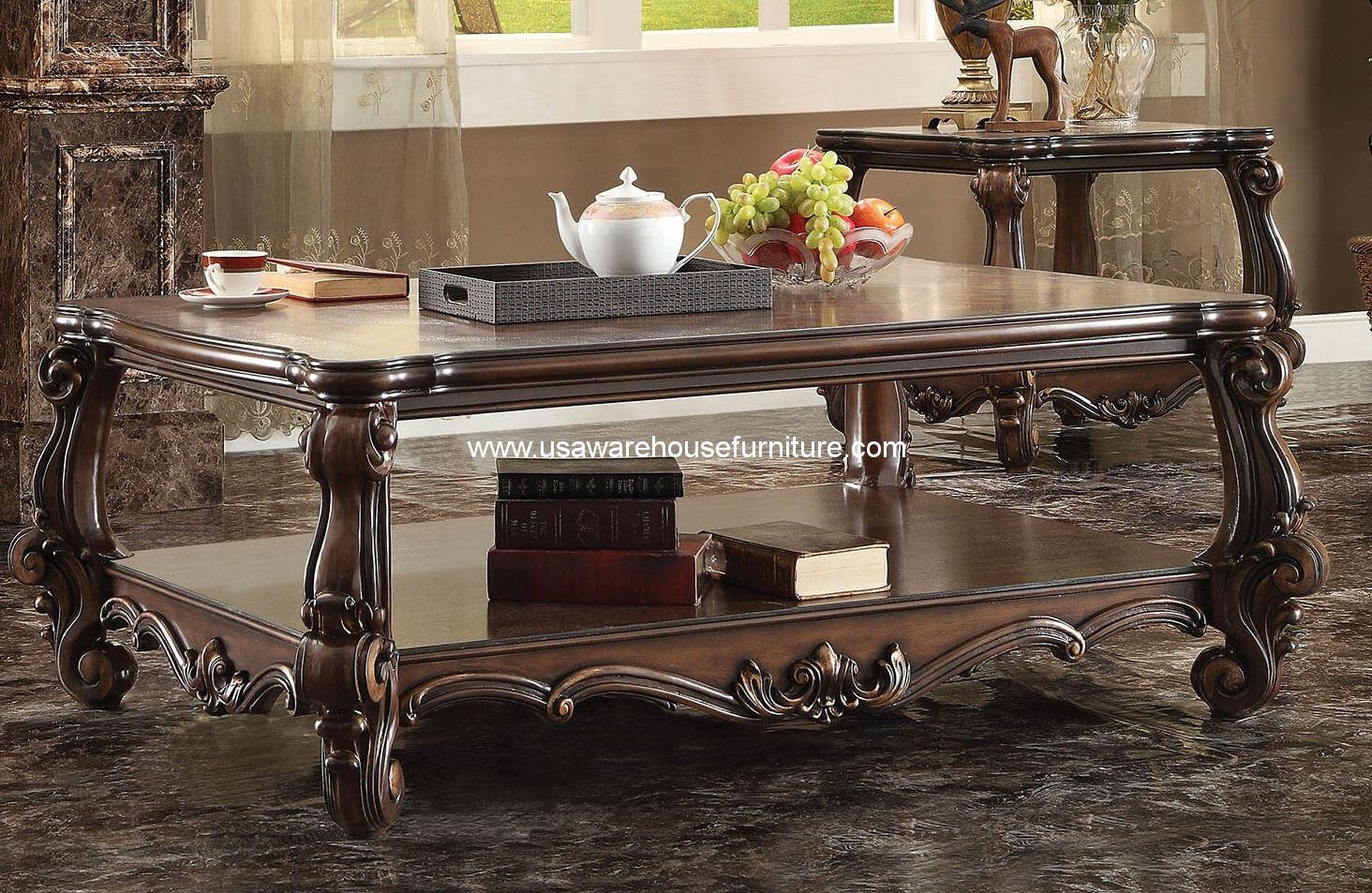 Versailles Coffee Table In Cherry Oak Acme 82120