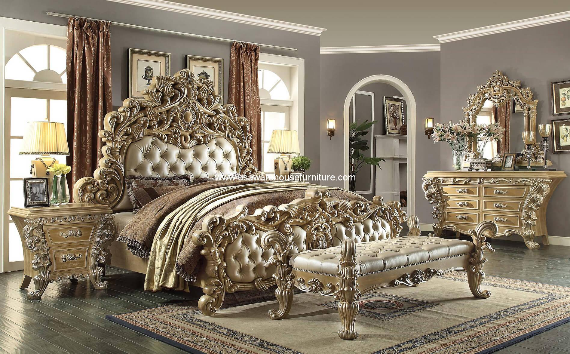 5 Piece Royal Kingdom HD-7012 Bedroom Set - USA Warehouse Furniture