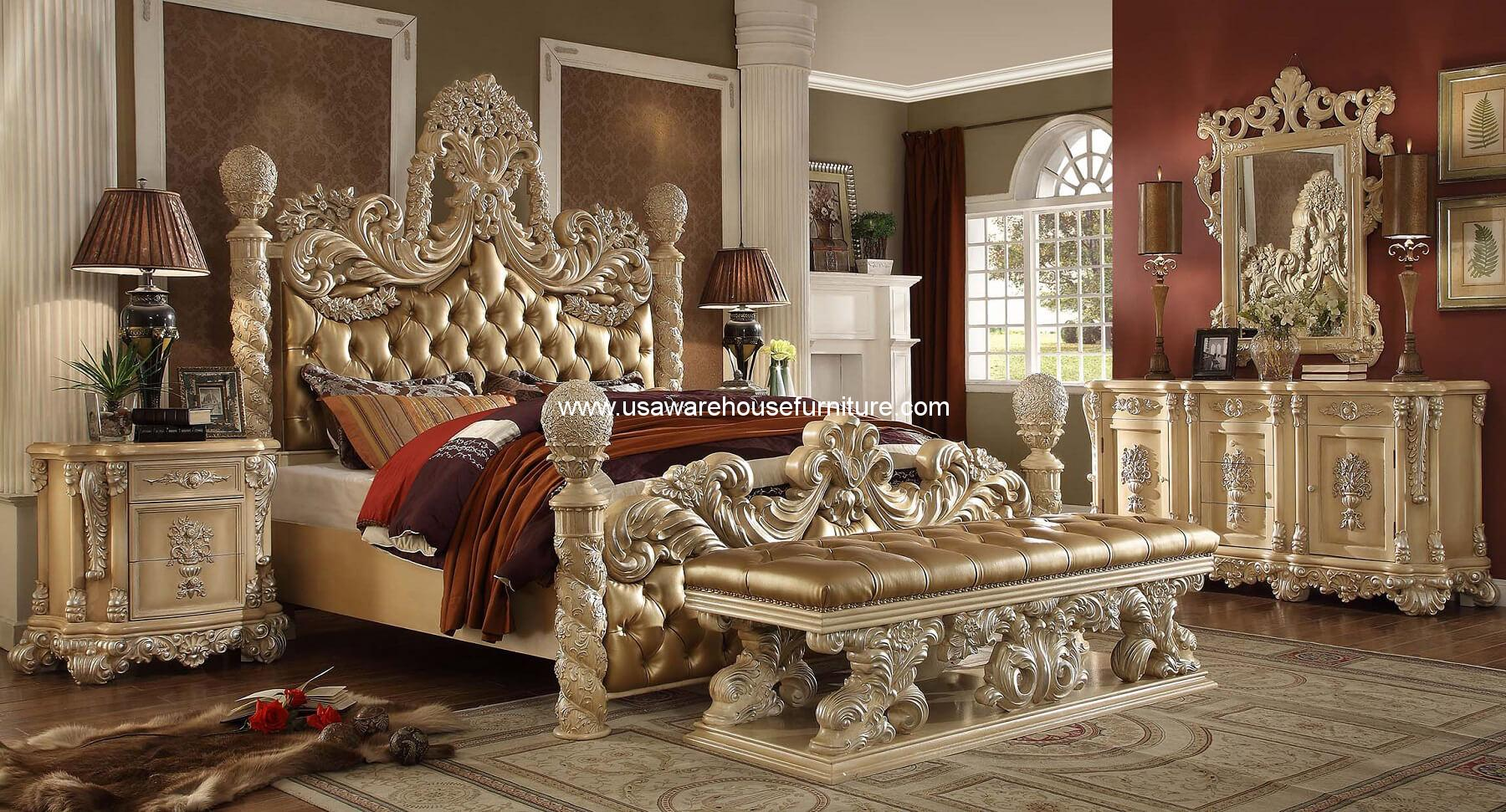 Victorian Bedroom Set | Victorian Palace Hd 7266 Bed Usa Warehouse Furniture