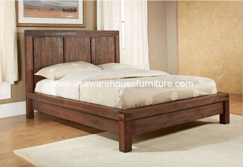 Meadow Panel Bed - Meadow Solid Wood Panel Bed €� USA Warehouse Furniture