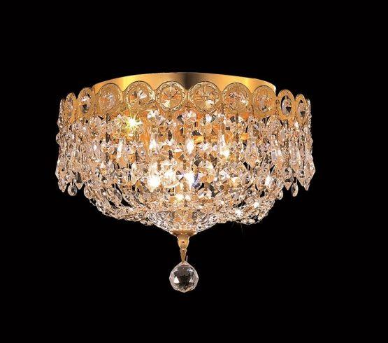 3 Lights Flush Mount Chandelier 1900 Century Collection
