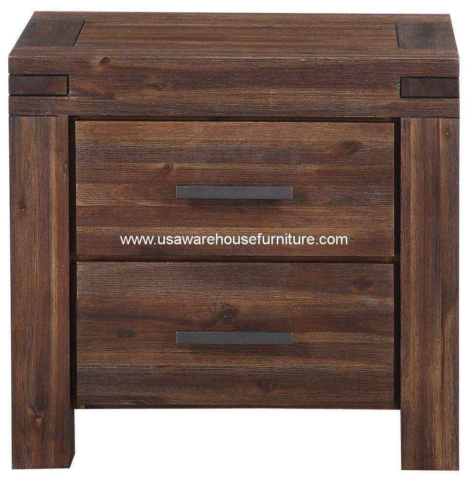 Meadow Solid Wood Nightstand 3f4181 Usa Warehouse Furniture