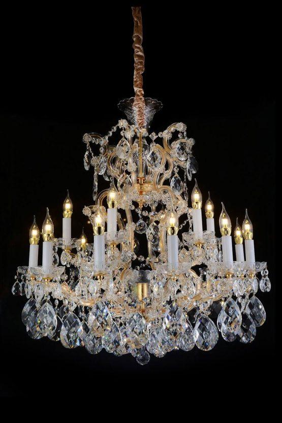 Michael Amini 19 Light San Carlo Chandelier Clear Glass