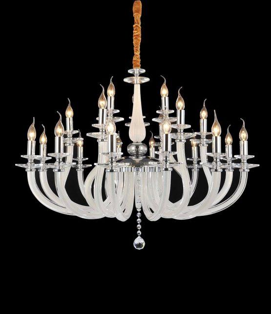Michael Amini 21 Light San Marco Chandelier Opalescent Glass