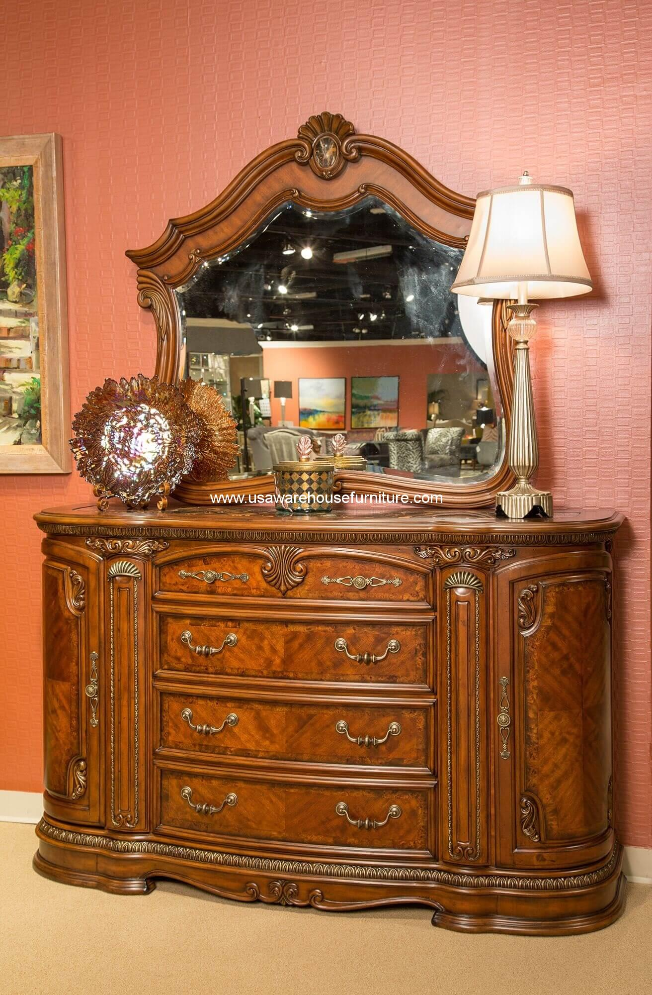 Michael Amini Bella Veneto Dresser With Marble Top - USA Warehouse ...