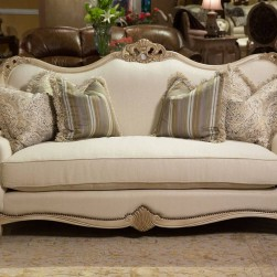 Michael Amini Chateau De Lago Wood Trim Loveseat