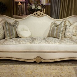 Michael Amini Chateau De Lago Wood Trim Sofa