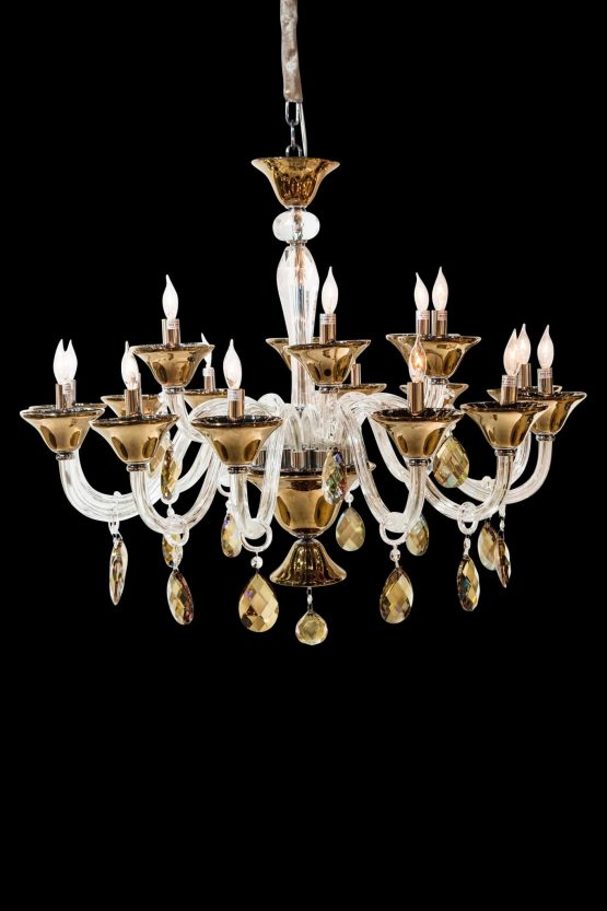 18 Light Rundale Chandelier Glass