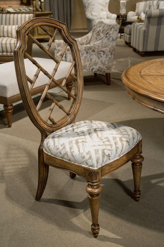 Michael Amini Excursions Dining Wood Back Side Chair