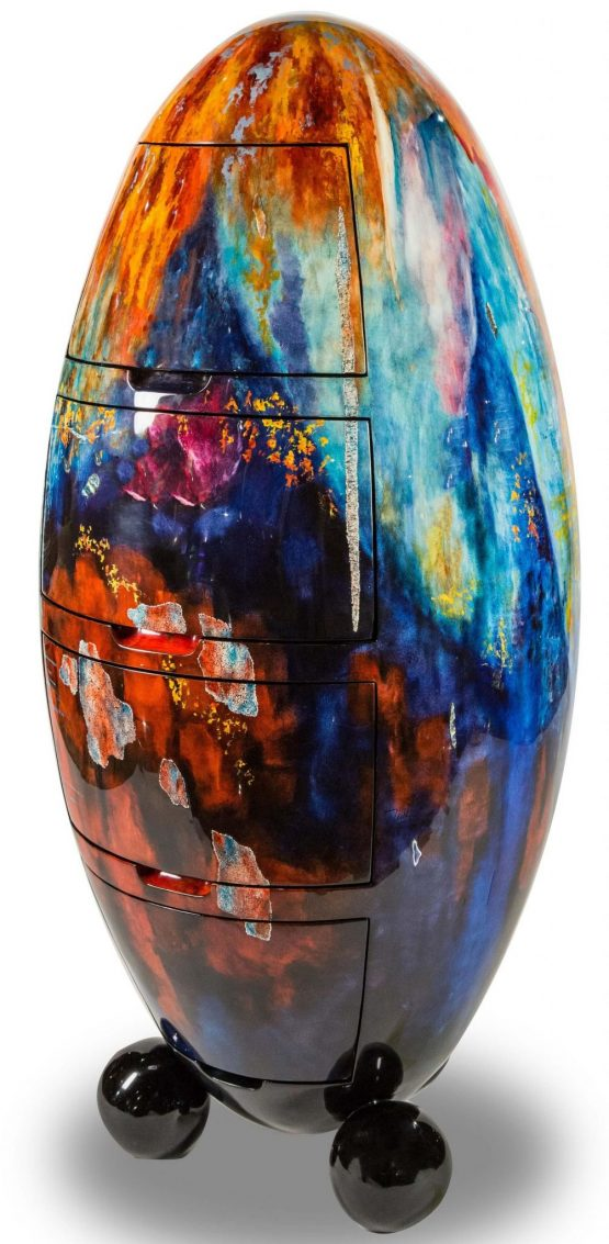 Illusion Accent Oval Cabinet