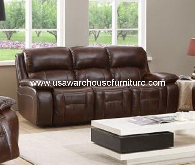 Full Grain Leather Sofas: Westminster Full Top Grain Leather Reclining Sofa