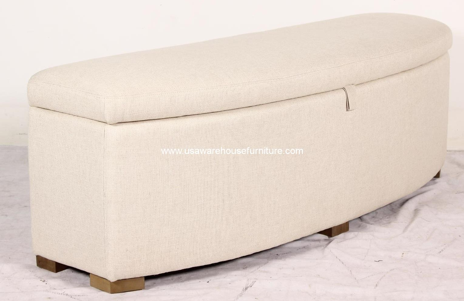 Heidi storage ottoman natural fabric usa warehouse furniture for Storage ottomans fabric