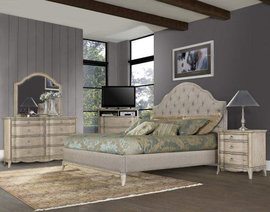 4 Piece Ashden Upholstered Bedroom Set