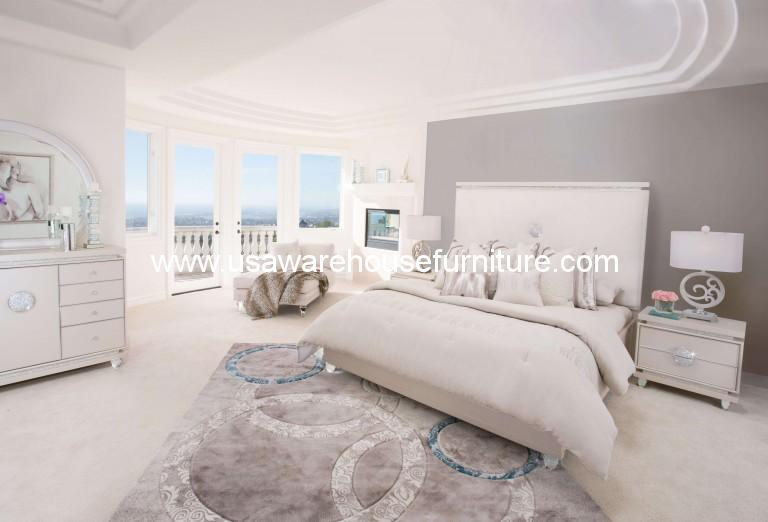 Glimmering Heights 4 Piece Upholstered Platform Bedroom Set