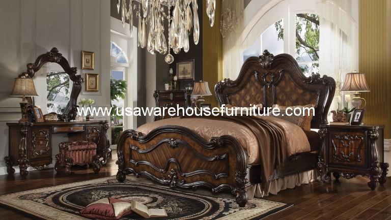 5 Piece Versailles Traditional bedroom Set