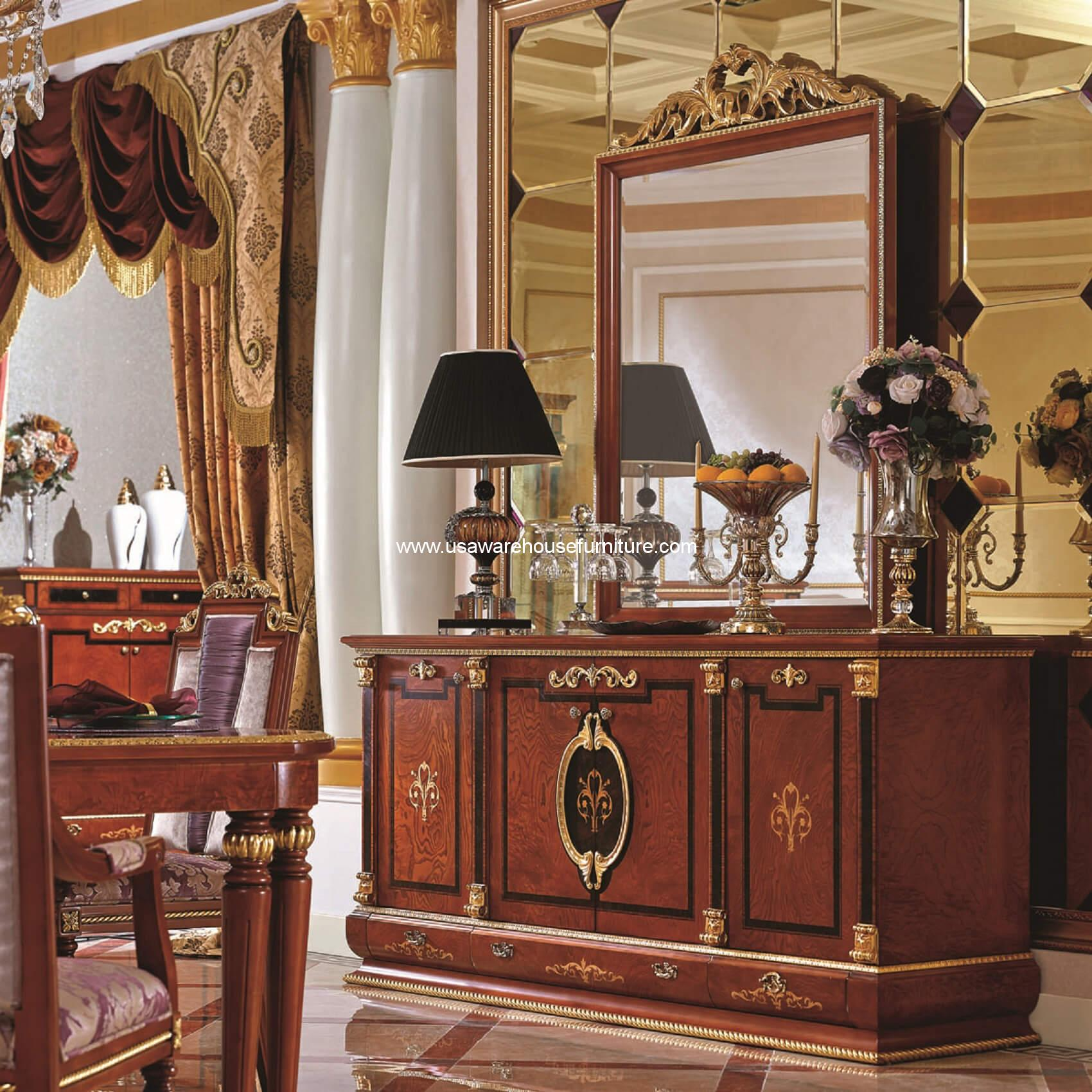 Empire European Luxury Buffet Cabinet - USA Warehouse Furniture