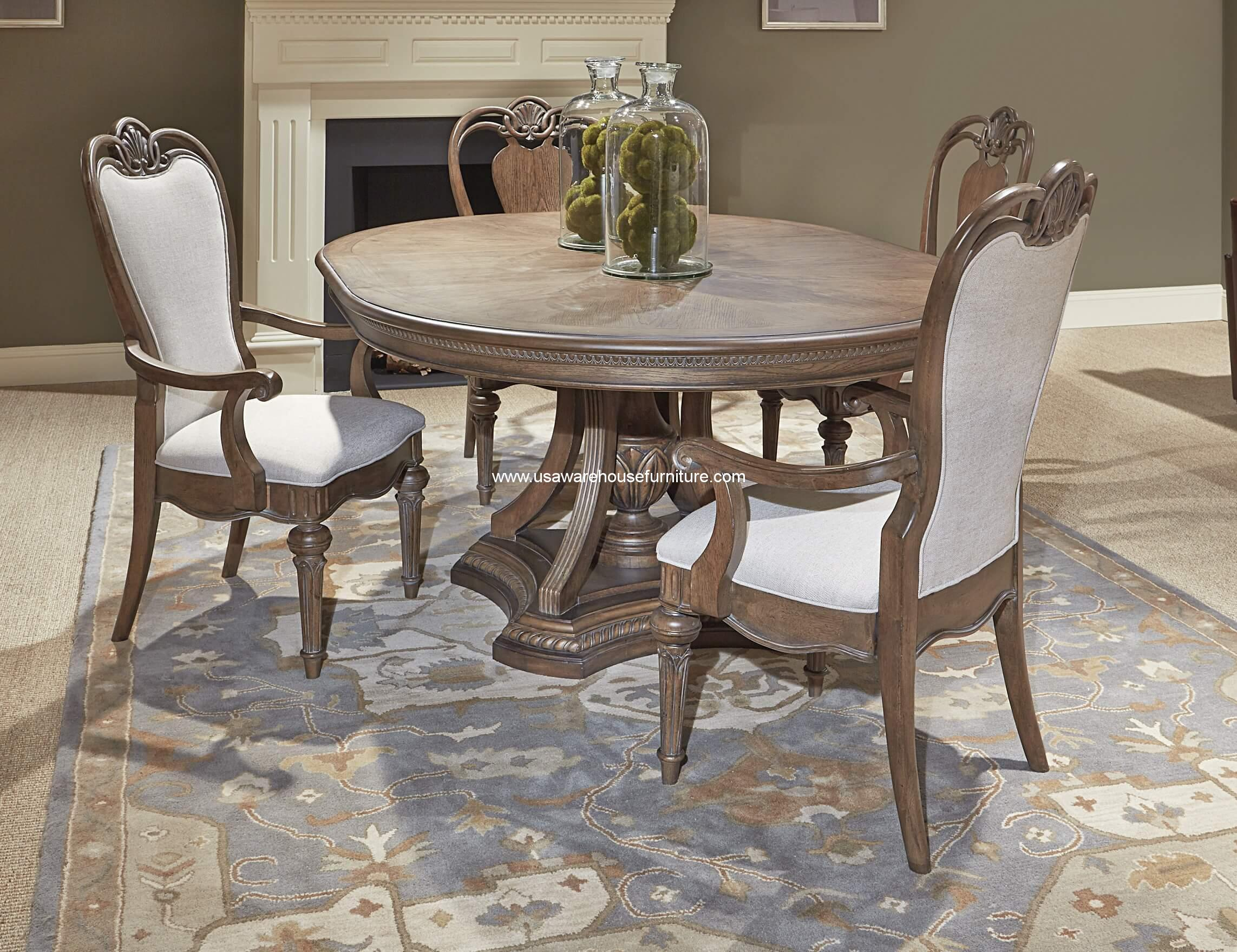 Renaissance round to oval dining set usa warehouse furniture
