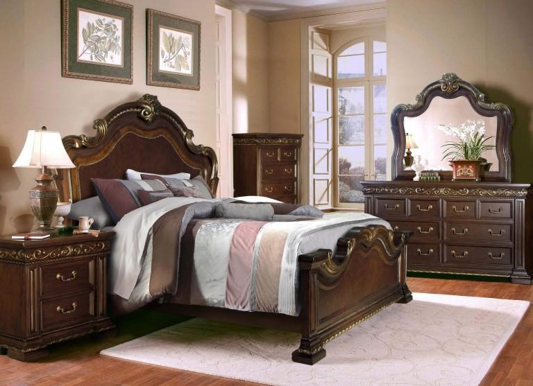 B538 Monaco Bedroom Set In Brown Finish