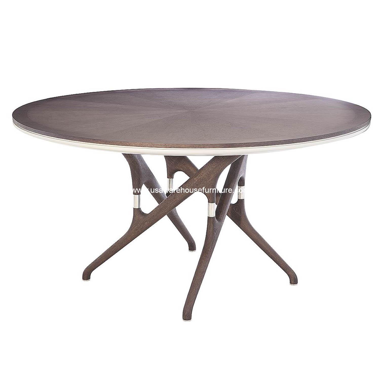 Banyan Round Dining Table Grey Oak Usa Warehouse Furniture