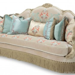 Michael Amini Belle Fleur Mansion Sofa Champagne